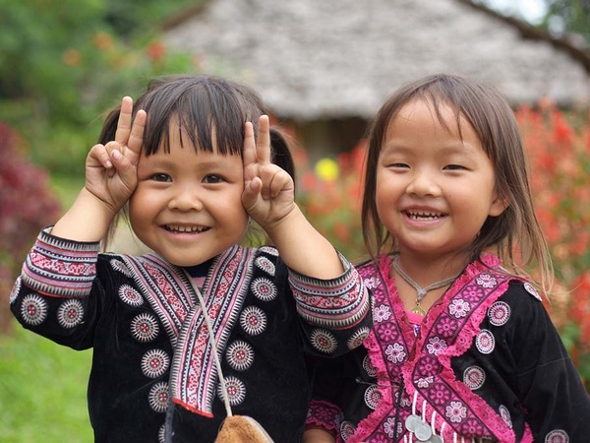 smiling thai people